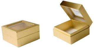 коробка шкатулка с окошком, упаковка для ювелирной продукции